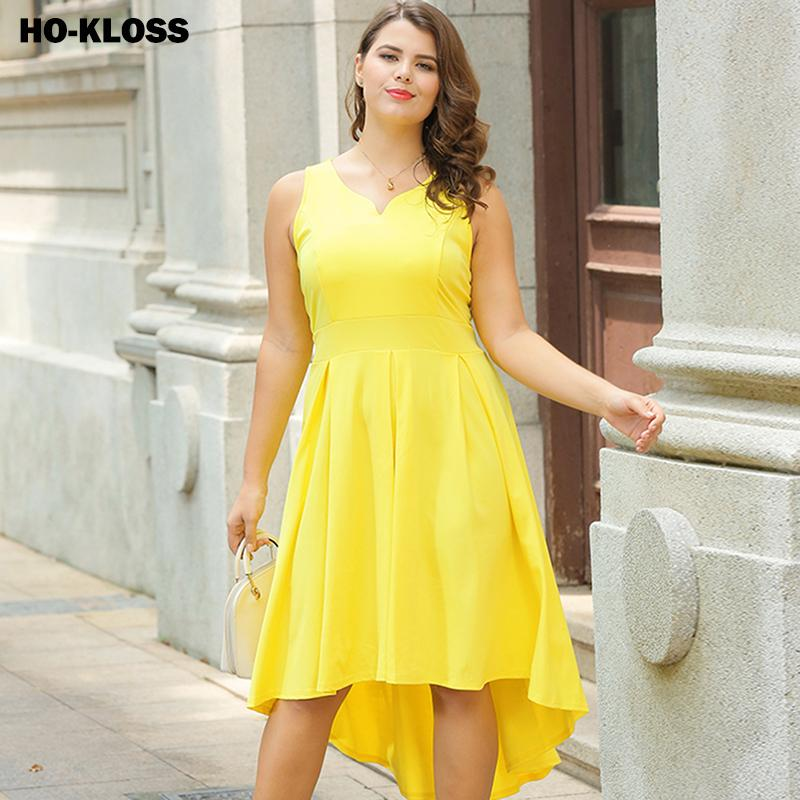 Abiti estivi giallo chiaro sexy per le donne Plus Size 1950's Retro Vintage Cap Sleeve Cocktail Party Swing Dress