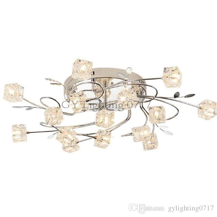 Modern led lustre remote control chandeliers lamp crystal lampshade modern led lustre remote control chandeliers lamp crystal lampshade led ceiling mounted lights luminaire moderne lighting luz ship chandelier cage mozeypictures Choice Image