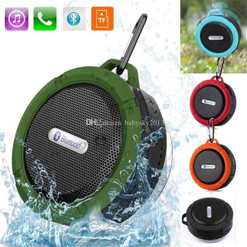 Ducha C6 IPX7 se divierte el altavoz portátil a prueba de agua inalámbrico Bluetooth altavoz manos libres ventosa caja de voz para el iPhone 6 7 8 Samsung PC