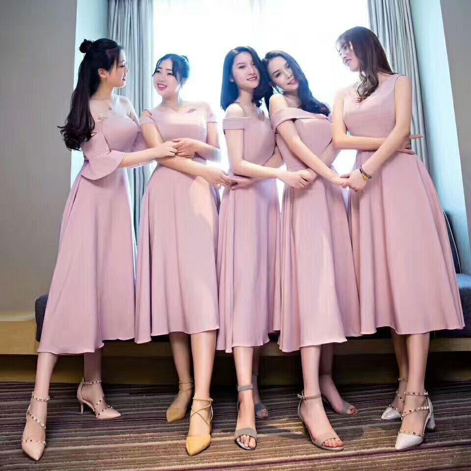af2c8a2792d4 Dusty Blush Pink Bridesmaid Dresses