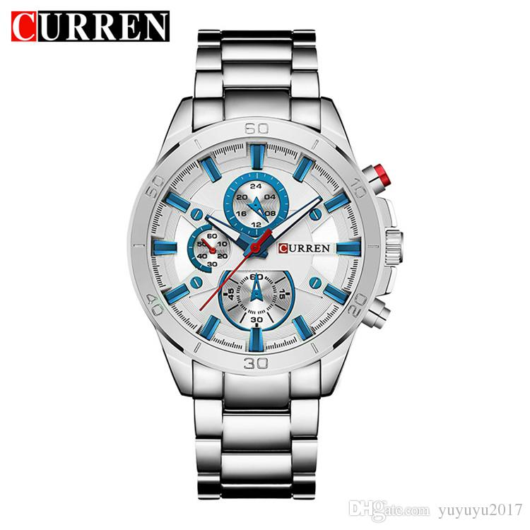 3a29d8f0ee6 Curren 8275 New 2017 Top Brand Luxury Watch Men Relogio Masculino Quartz  Watch Fashion Casual Alloy Wristwatches Black Watches Wholesale Watches  From ...