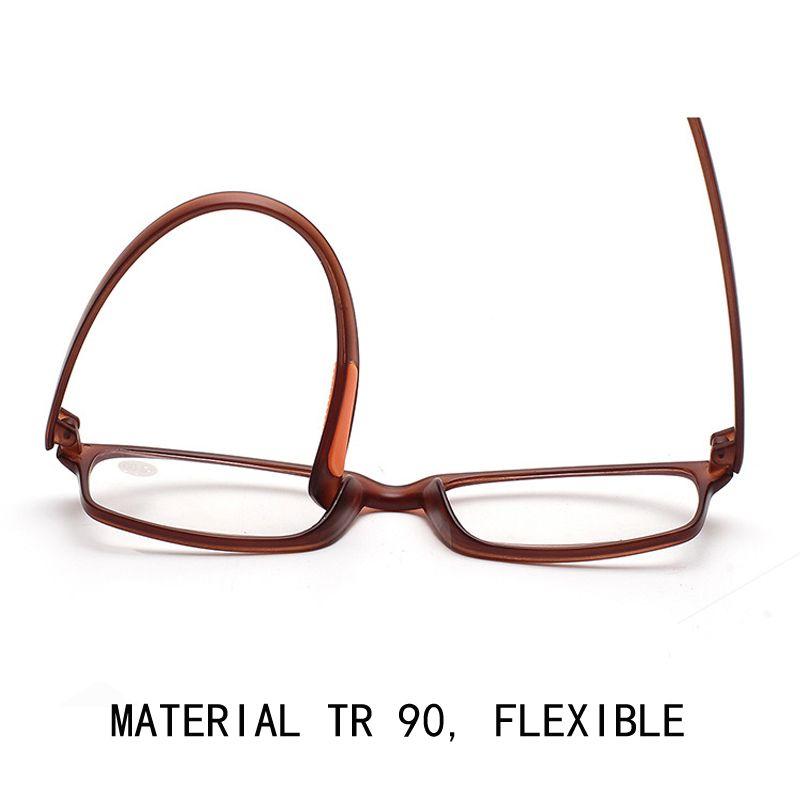 Bequeme HD-Linsen-Lesebrille Ultraleichte Presbyopie-Linsen Frauen Männer Tr 90 Presbyopie-Brillen Unisex-Vollformat-Brillen