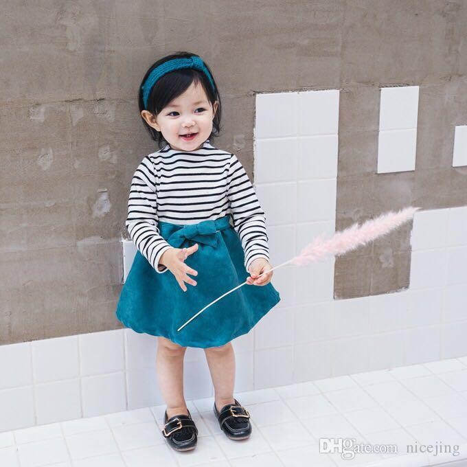 a30f8915ea50 2019 1 5ages Baby Autumn Dress Striped Long Sleeve Dress Girl Outfit Autumn  Childrens Dress Kids Wear BC180829B From Nicejing, $53.27 | DHgate.Com