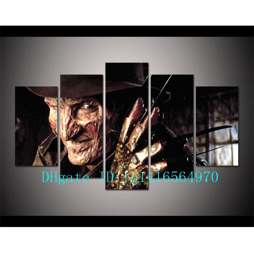 Compre Horror Freddy Krueger, 5 Piezas Impresiones En Lienzo Arte De ...