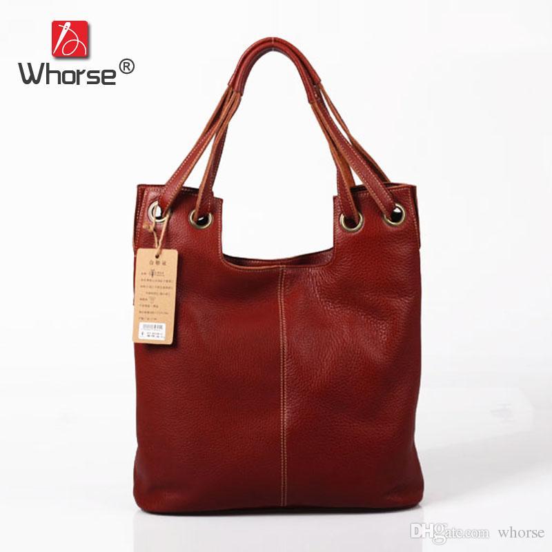 Vintage Casual Designer Handbag Real Cowhide Womens Handbags Hobo ... e20ffb4139db3