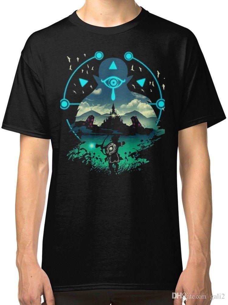 Zelda Breath of the Wild Men s Black Tees T-Shirt Clothing