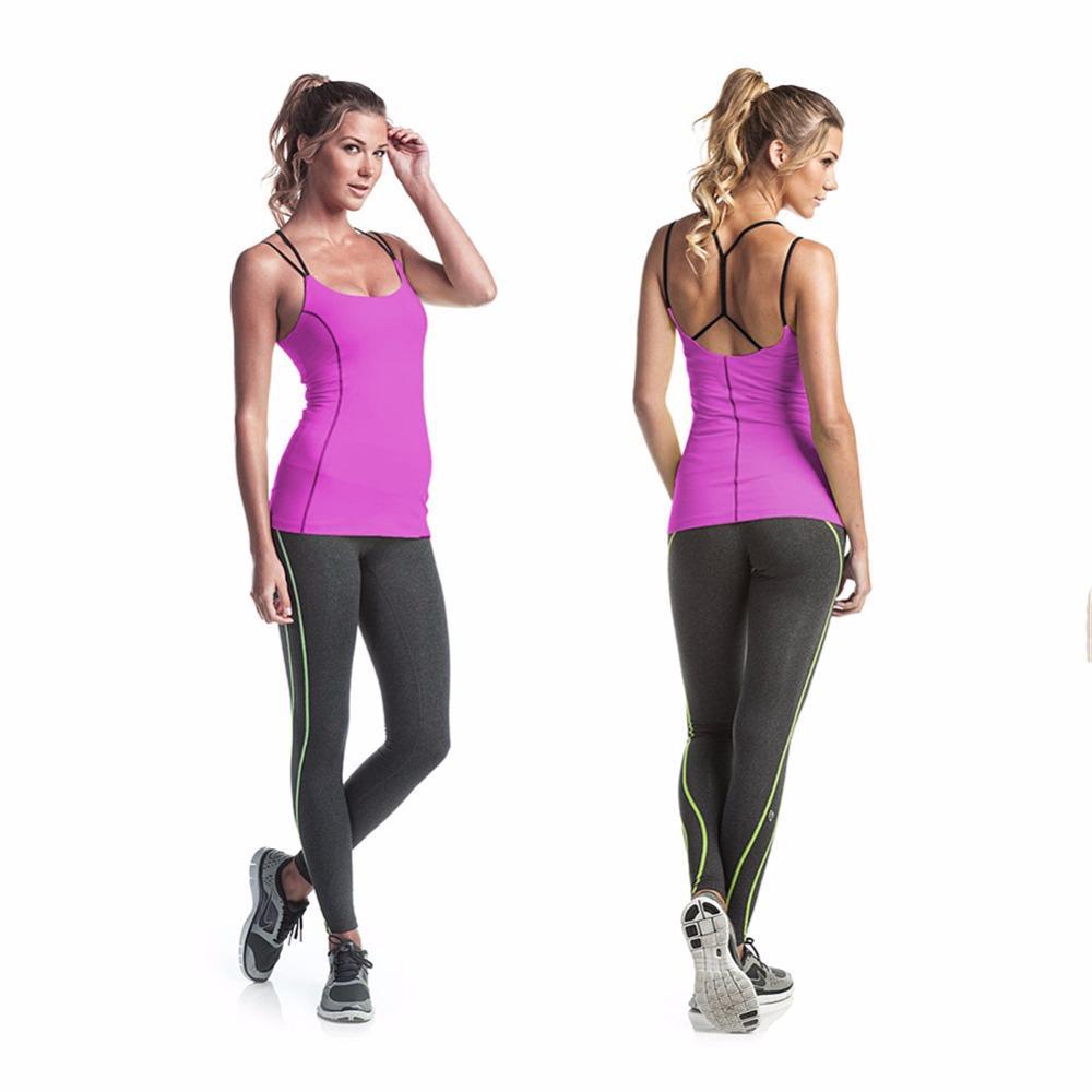 SERANDMIDO Mujeres Sporting Tank Top Adelgazante Verano 2017 de secado rápido sin espalda Cami Ladies sin mangas camisola chaleco SM4V069