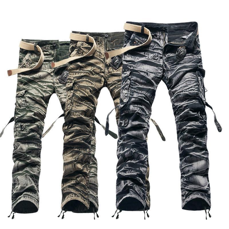 Acheter Armée Militaire Camouflage Cargo Pants Plus Size Pantalon Multi  Poches Causale Baggy Cargo Outerdoor Pantalons Hommes Pas De Ceinture De   59.3 Du ... 45c59880117