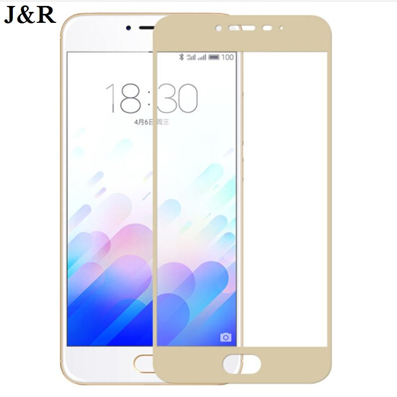 J&R Full Cover Tempered Glass For Meizu M3 / M3 Note M3S S Meilan 3 Meilan3 M3note Note3 Screen Protector Protective Film