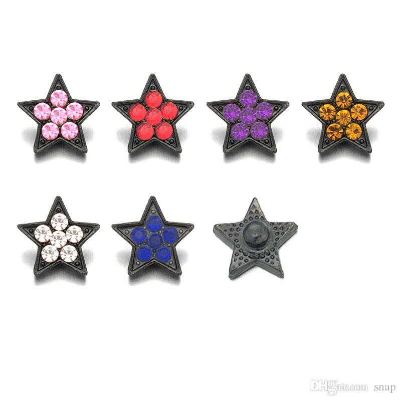 Wholesale Five-pointed Star 010 Snap Jewelry Rhinestone Metal Snap ... afa1221b1385