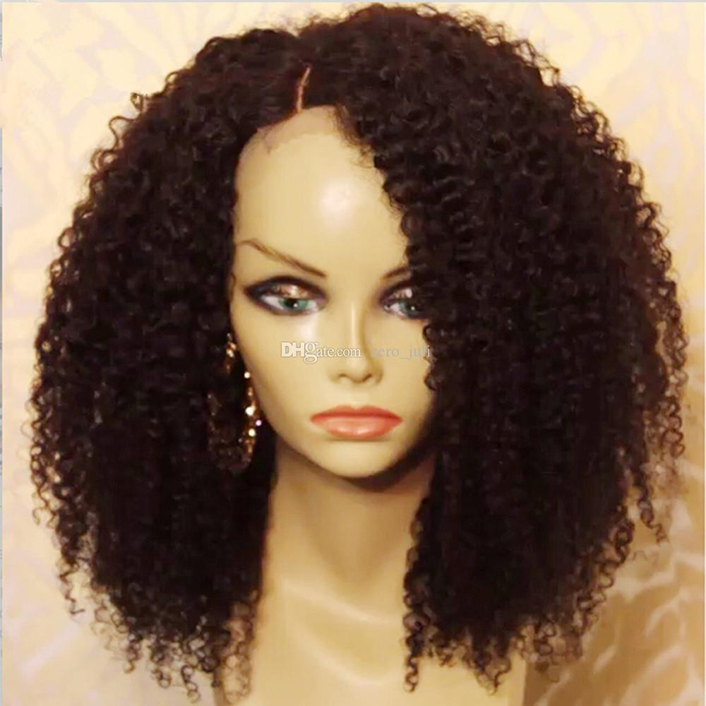 Short Human Hair Wigs Curly Virgin Peruvian Remy Hair Full Lace Wig Kinky Curly Wig Unprocess Hair Lace Front Wig