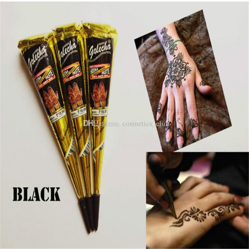 Black Natural Indian Henna Tattoo Paste For Body Drawing Black Henna
