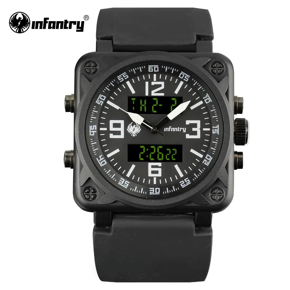 in male digital aviator masculino for quartz silver watches top mens airforce relogio men full clock hot steel sports lcd from brand infantry item