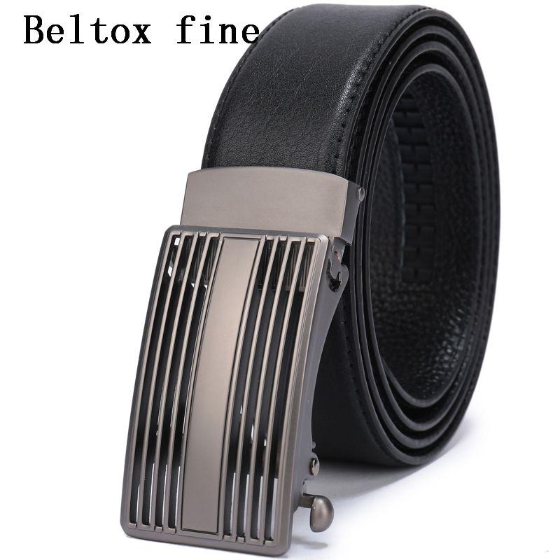 Compre Cinturones De Hebilla Automática De Cuero Para Hombres Cinturón De  Trinquete Vestido Diseñador Grande Y Alto Cinturones De Hombre Negro Marrón  ... 8151f985944d
