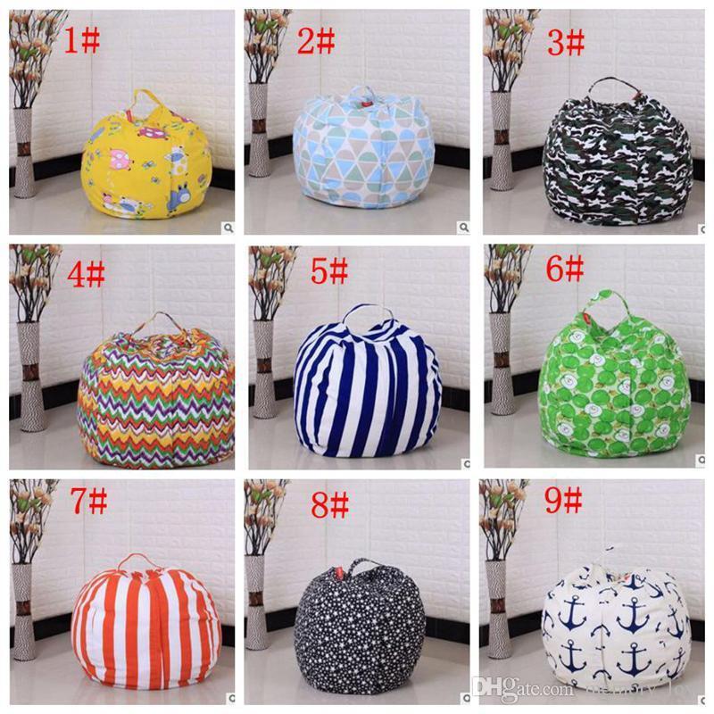 RTS Lazy Bean Bag Sofás de almacenamiento de juguetes de animales Bean Bag Stuffed Niños de peluche de juguete organizador del bolso creativo silla para niños 27 pulgadas