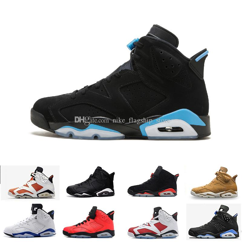 5c589289090b36 2018 New 6 6s Mens Basketball Shoes Classic UNC Infrared Gatorade Hare Oreo  Maroon Chrome Alternate Angry Bull Men Sport Blue Sneakers Shoes Mens  Loafers ...