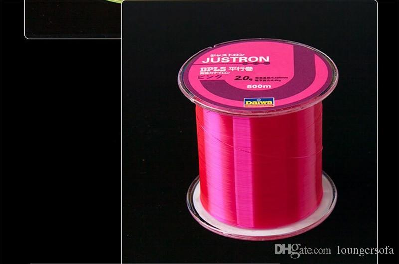 500 Meters Fishing Line Raw Silk Wear Resisting Nylon Monofilament Angling Lines Super Strong Pull Thread Multi Color 6yk WW