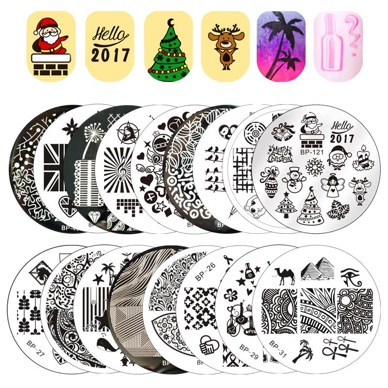 ff61b1164a0d01 BORN PRETTY Mixed Abstract Patterns Nail Art Stamp Round Template Image  Plate Manicure Stamping Stencil Nail Art Template Design For Nail Art From  May512