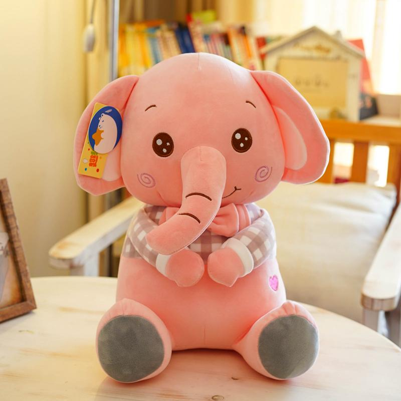 b95e23079b Candice guo! Super cute plush toy lovely shy elephant heart trousers  sitting doll stuffed toy creative birthday Christmas gift