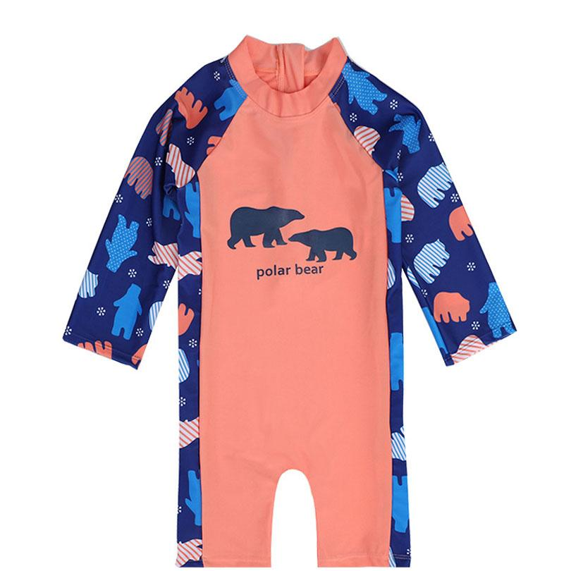 b48ff2274b 2019 Chilren Swimsuit Baby Boy Handsome Polar Bear Beach Sunscreen Clothing Kids  Rash Guard Baby Boy Swimwear Romper 1 7Y From Fkansis, $36.03   DHgate.Com