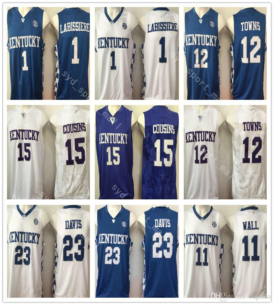 2018 Kentucky Wildcats Basketball 15 Demarcus Cousins Jerseys College 11  John Wall 23 Anthony Davis 1 Skal Labissiere 12 Karl Karl Anthony Towns From  ... 721b838ec