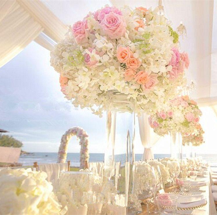 Grosshandel Hot Pink Big Hochzeit Kunstliche Blume Blumenstrauss