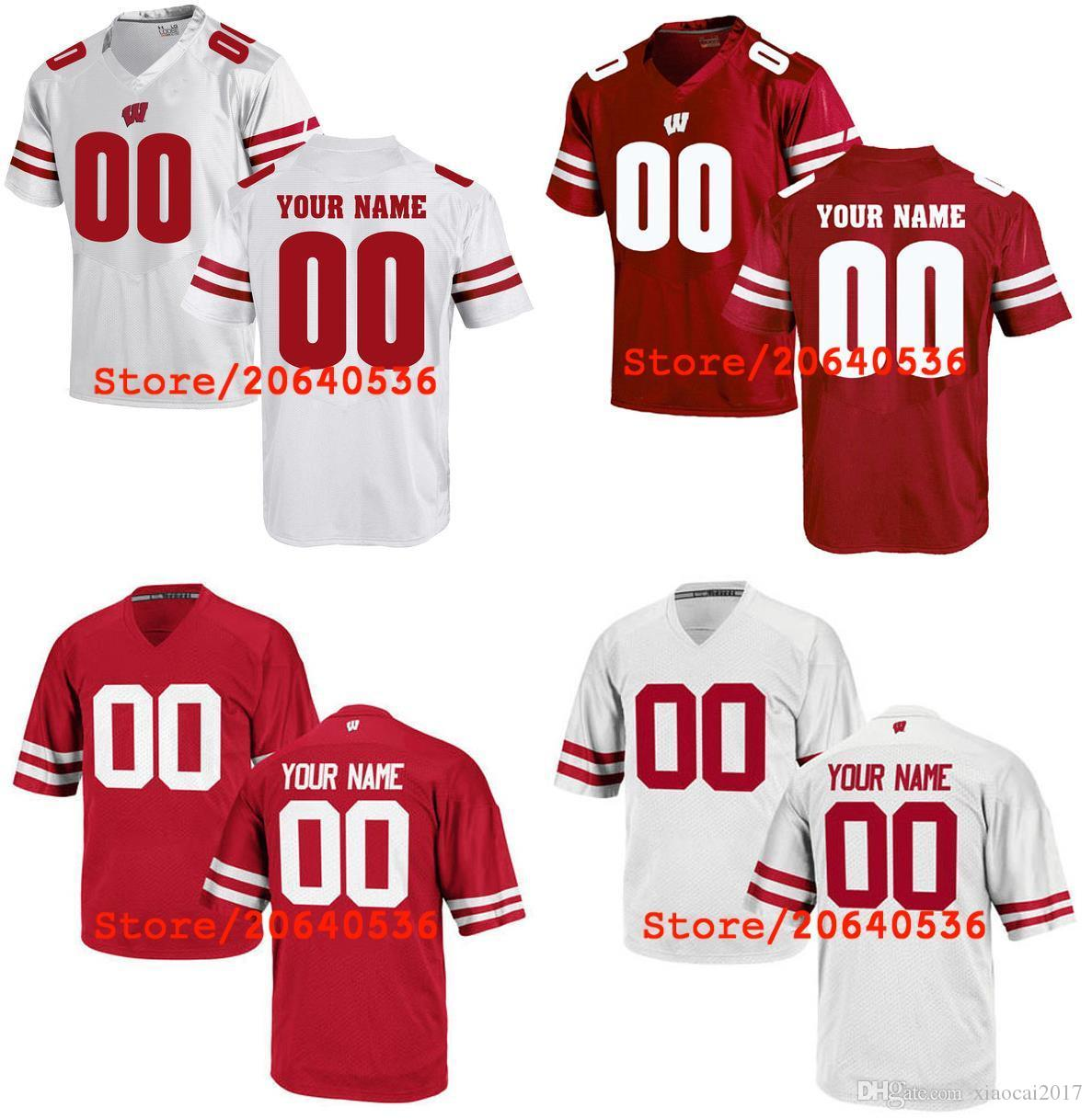 8eb55541892 2019 Cheap Custom Wisconsin Badgers College Jersey Mens Women Youth Kids  Personalized Any Number Of Any Name Stitched Red White Football Jerseys  From ...