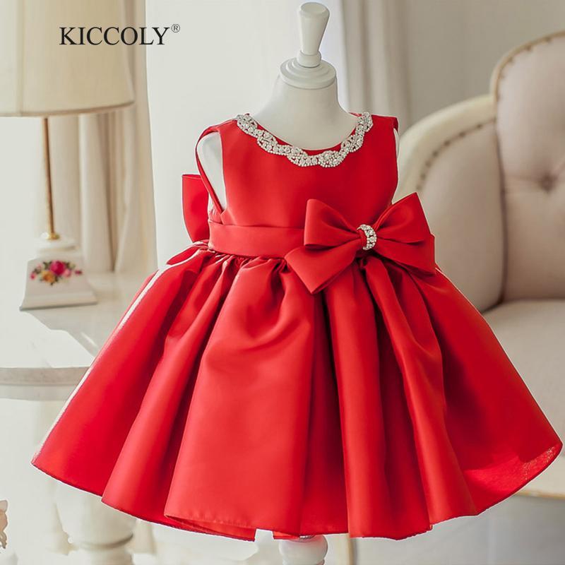 2018 2017 Summer New Baby Girl Dress Red 6m 2t Baby Girls Birthday ...