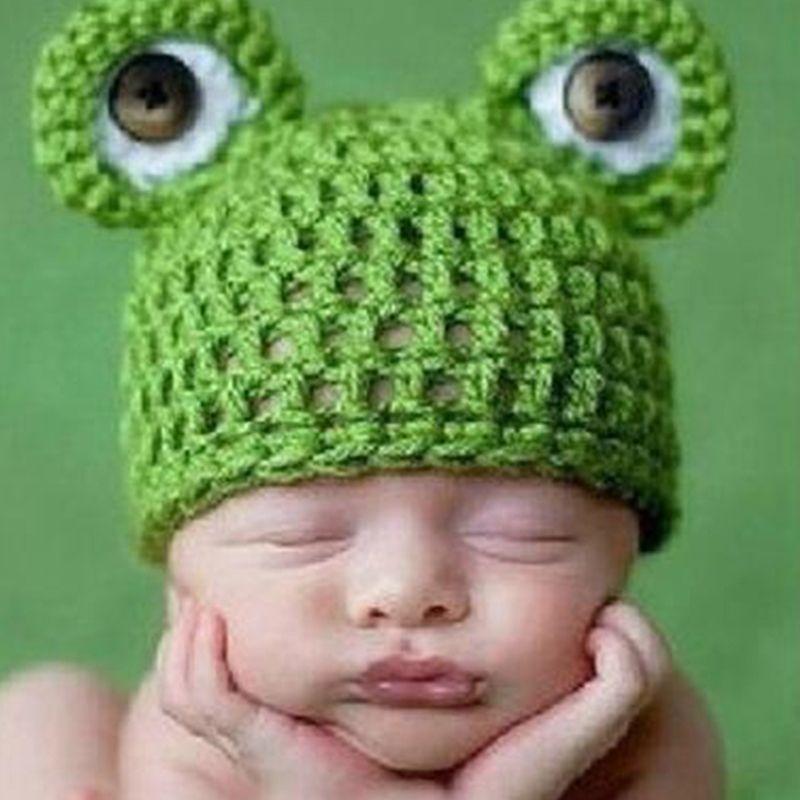 2019 Newborn Baby Girls Boys Yoda Outfits Crochet Hat Baby Frog