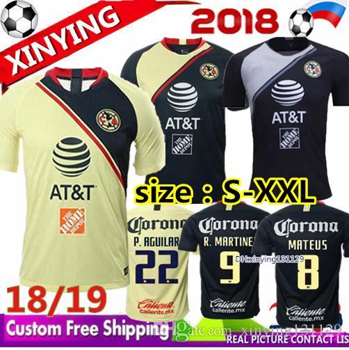 889eda3a437 Compre 2018 2019 Liga Mx Club America Camisolas De Futebol 18 19 Home Away  Terceiro I.Renato C.Dominguez Matheus O.Peralta Camisa De Futebol De ...