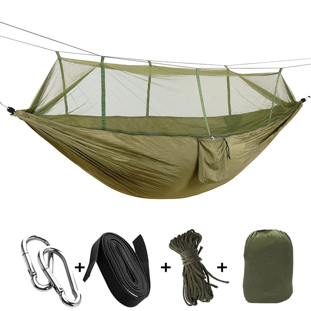 Honey Profession 7 Colors Carrying Nylon Cloth Parachute Hammock Garden Camping Survival Hunting Leisure Travel Hammock Double 270*140 Sports & Entertainment Camp Sleeping Gear