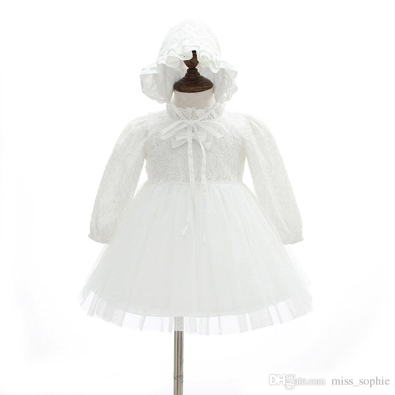 1d03a8a2d5c41 2019 Wholesale Baby Girl Dress Christening Baptism Gowns Sets Flower Girl  Special Occasion Dress For Infant Toddler 0 24months From Miss sophie