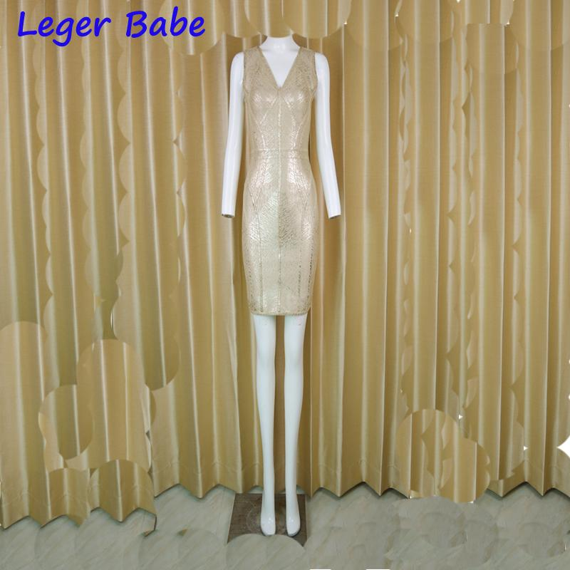 690952eba324e Leger Babe 2018 Summer New Bandage Dress Lady Sheath V-neck Elegant  Cocktail Celebrity Party Dress Clubwear Zippers Dresses