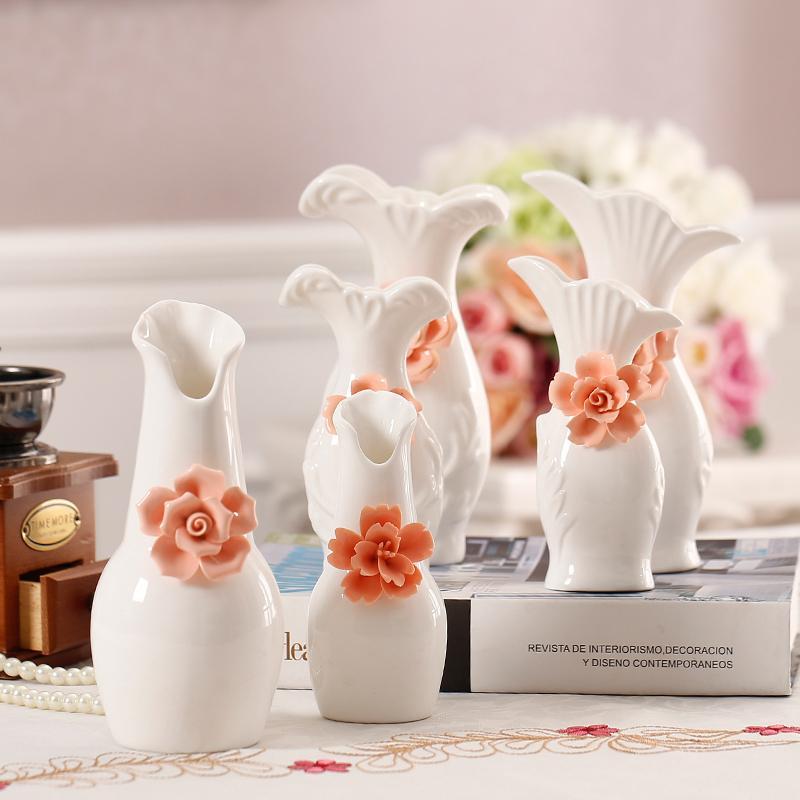 Modern Tabletop Flower Vase White Ceramic Flower Vase Wedding