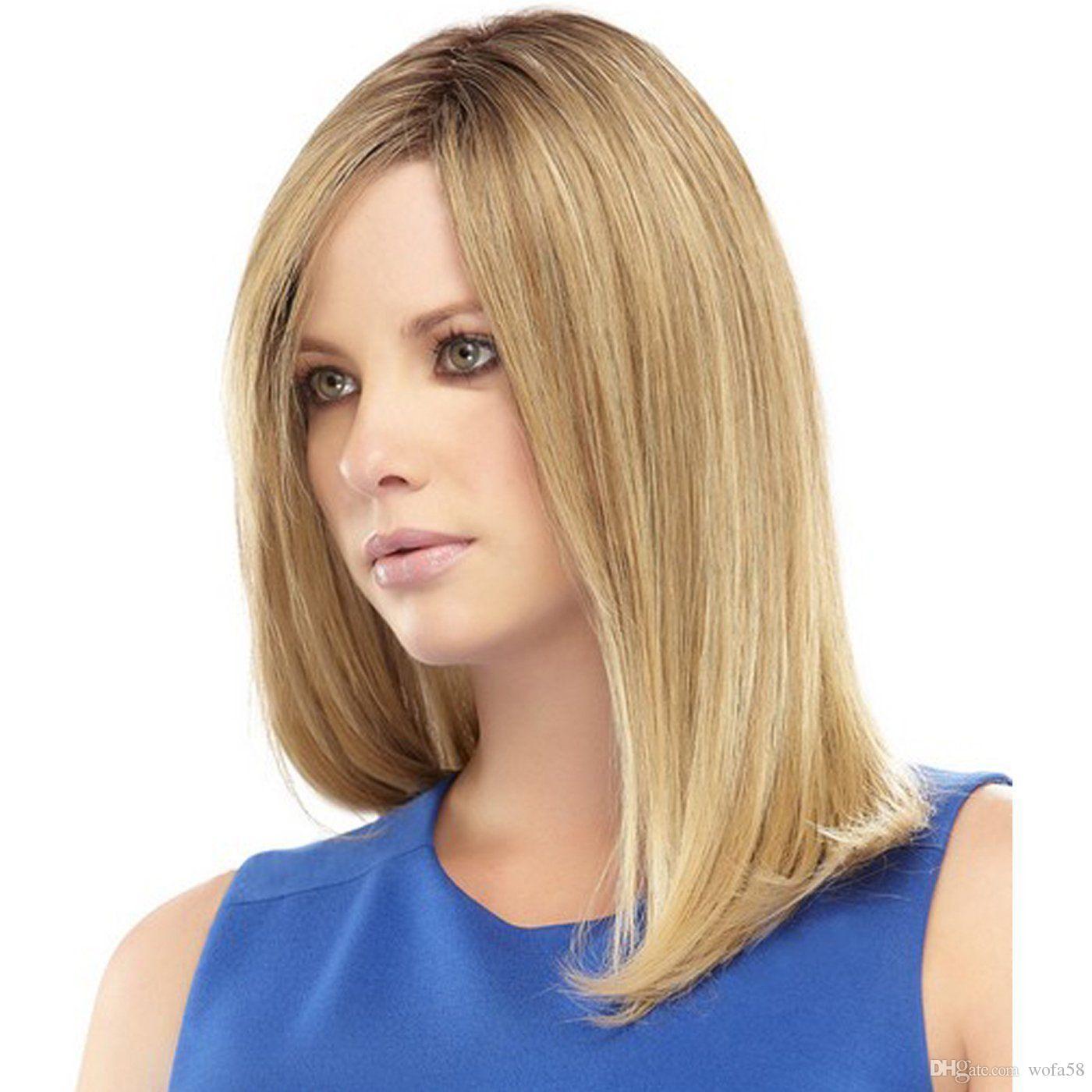 Großhandel Frauen 185 Lange Bob Haar Perücken Schwarze Wurzel