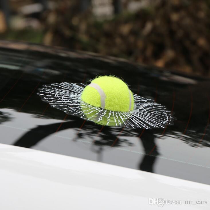 44 3D cars Stickers football basketball tennis baseball car Glass sticker Creative car emblem interesting Car decoration