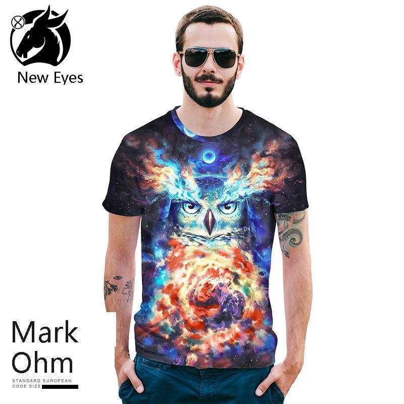 2b56453c1b1b 2018 Summer New Pattern European Code Jacket Number Owl 3D Printing ...
