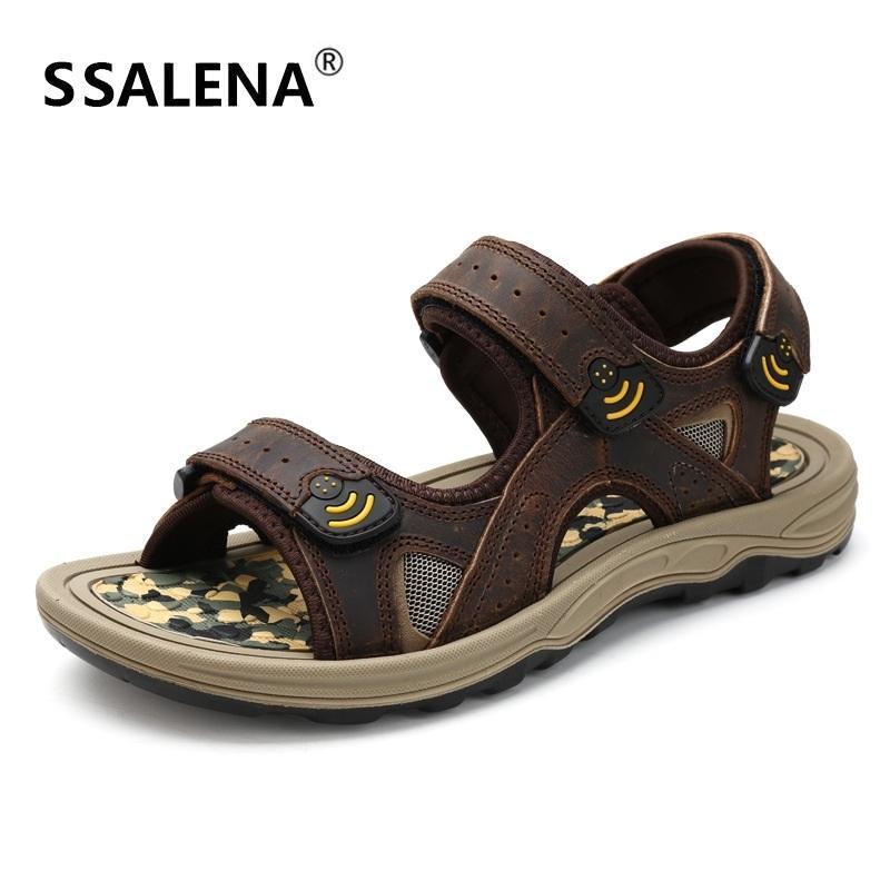 De Cuero Sandalias Chanclas Verano Antideslizante Suela Sólido Hombres Zapatos Suave Para Toe A850 Hombre Casual Cómodos wkXOuPZliT