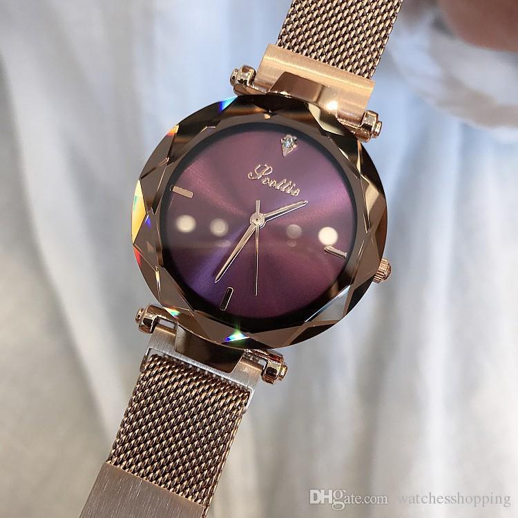 2677c063d57 2018 Luxury Brand Lady Crystal Watch Magnet Buckle Women Dress Watch  Fashion Quartz Watch Female Stainless Steel Wristwatches Best Watches In  The World Best ...