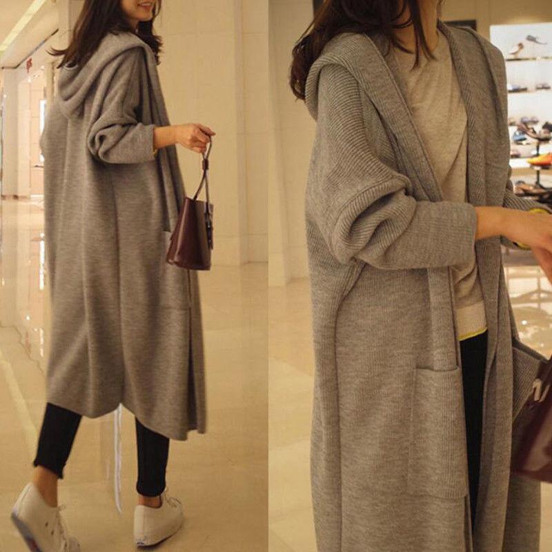 2ffa58d33e7c0 2019 US Women Warm Zipper Hoodie Sweater Hooded Long Jacket Sweatshirt Tops Plus  Size From Allproduct