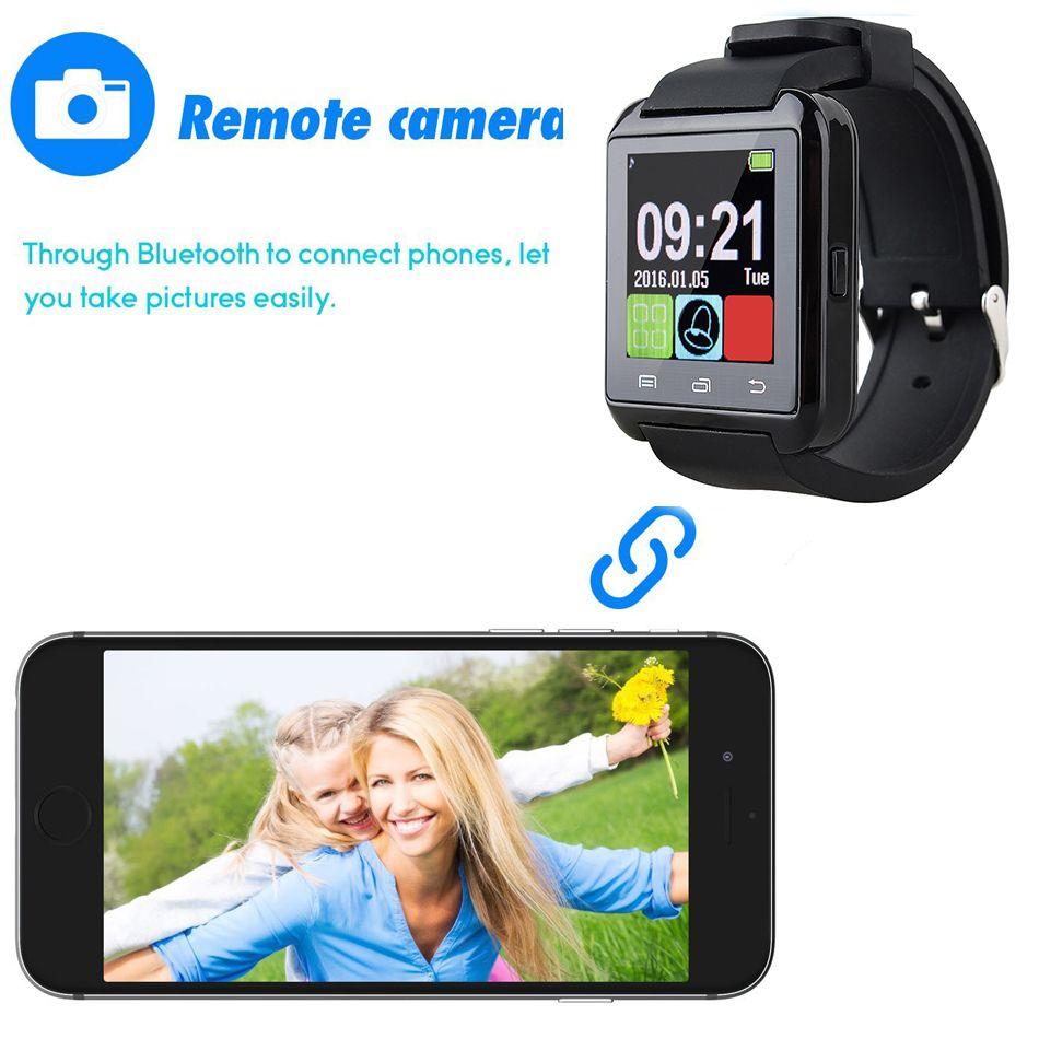 Schermo Bluetooth U8 Smartwatch orologi di tocco Samsung S8 Android Phone Sleeping monitor intelligente orologio con Package