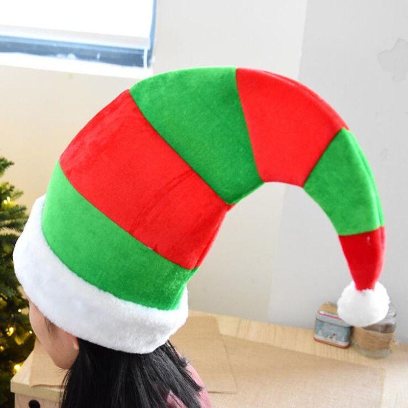 Şerit Noel Elf Şapka Yetişkin Kadın Kız Giydirme Sahne Parti Şapka Kapaklar Noel Yeni Yıl
