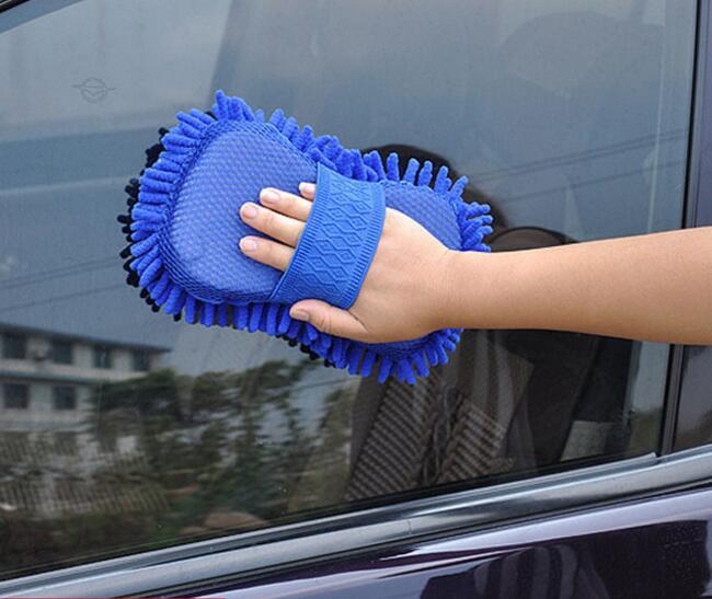 Car Hand Soft Towel Microfiber Chenille Washing Gloves Coral Fleece Gloves Auto Wash Cloth Car Care Cleaning 20*11*15 cm