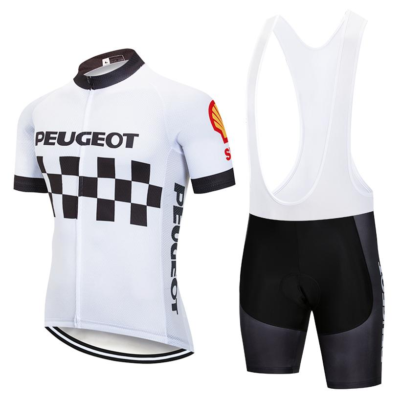 291c0d385 Tour De France 2019 Peugeot Team Men S Summer Quick Dry Short Sleeve  Cycling Jersey 9D Gel Pad Bib Shorts Kit Ropa Ciclismo Bike Clothing Cycle  Tops Bicycle ...