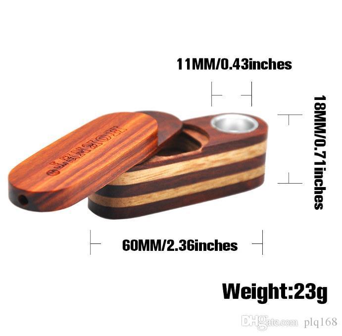 Novo tubo de madeira de tubo de tabaco de dois andares em dezembro