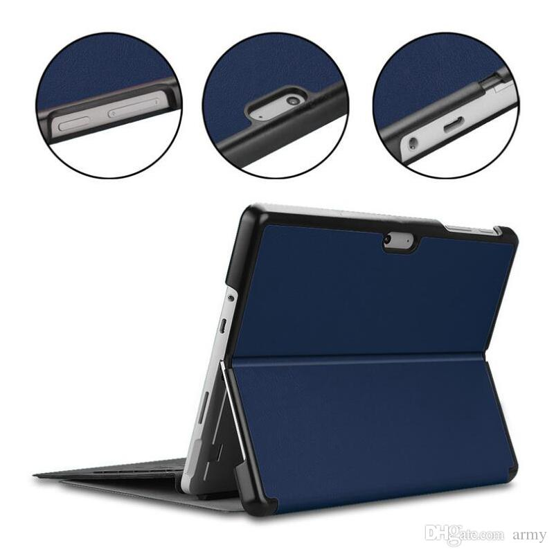 Custodia in pelle PU Slim Custodia in pelle magnetica per Microsoft Surface Go Custodia in pelle protettiva per tablet da 10 pollici