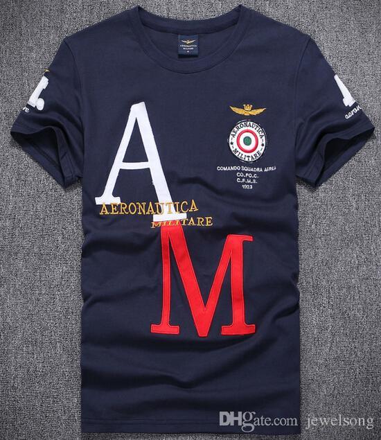 Cart New 2019 Classic T-shirt AERONAUTICA MILITARE Summer Style ... 10717cdc8