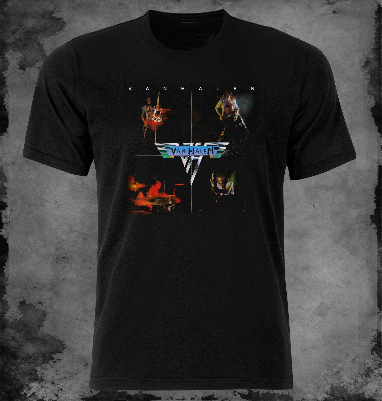 23b23532f7bd Van Halen Van Halen T Shirt XSXL First Album Buy Shirt Designs Funny Clever T  Shirts From Hiphoptshirt, $13.19  DHgate.Com
