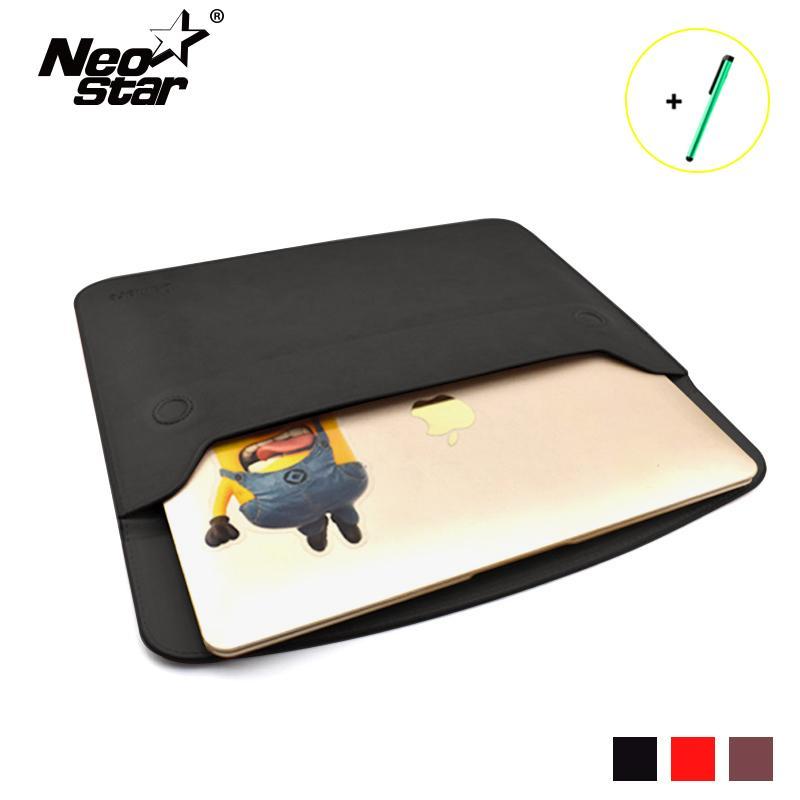 dde92d619b25 NEO STAR Waterproof PU Laptop Bag Case For Macbook Air Pro Retina 11 13  Anti-Scratch Laptop Accessories Bag Stylus Pen