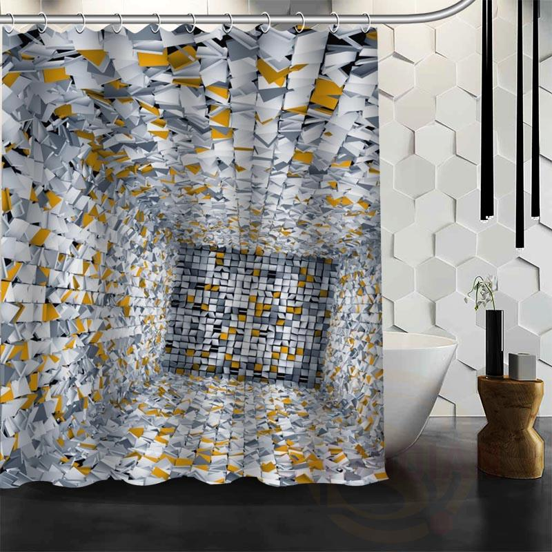 2018 Custom Polyester Waterproof Fabric Bath Curtains Funny Space Shower Curtain Bathroom Decor From Dtanya 4226